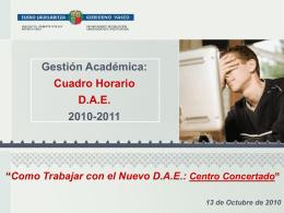 Como Trabajar con el DAE 2010 (Centro Centro concertado)