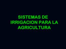 Sistemas de seguridad e irrigación para la agricultura