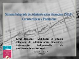 Experiencias internacionales. Paraguay. Sra. Carmen Martínez