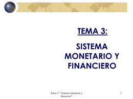 el sistema monetario y financiero internacional.
