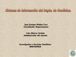 sistema de informacion sismologico