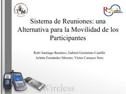 Sistema de Reuniones Inalámbrico para Dispositivos Móviles con
