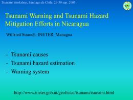 Sistema de Alerta contra Tsunami