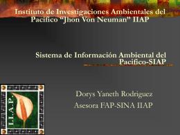 Sistema de Información Ambiental del Pacifico-SIAP