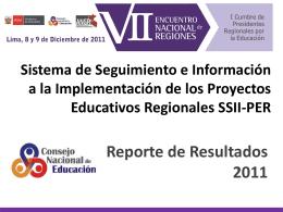 Sistema de Seguimiento e Información a la Implementación de los
