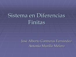 Sistema en Diferencias FinitasMURILLO