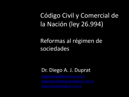 Reforma Regimen Societario 2015