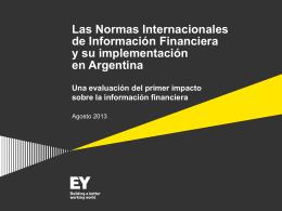 Una evaluación del primer impacto sobre la información financiera