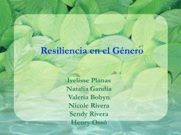 Resiliencia en el Género