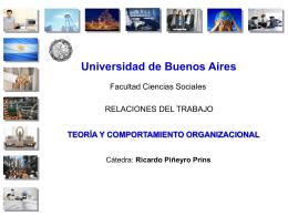 cultura organizacional - Cátedra Piñeyro Prins