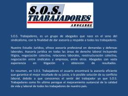 Presentacion SOS Abogados - Sindicato Nacional de Trabajadores