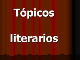 Tópicos literarios - HablandodeESO