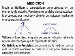 Variables y Escalas de Medicion