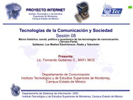 Sesión 08 - Fernando Gutiérrez :: Tecnología y Sociedad