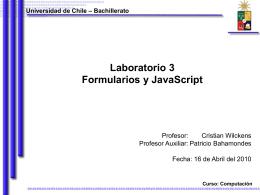 Universidad de Chile – Bachillerato Curso: Computación