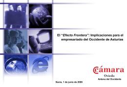 """El """"efecto frontera"""" - Cámara Oficial de Comercio, Industria y"""
