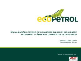 Socializacion Convenio DAB 003-08