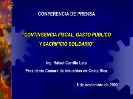 Camara de Industrias de Costa Rica Encuentro con Candidatos a la