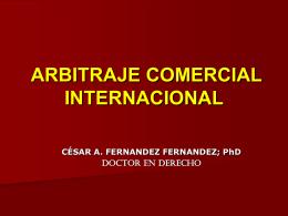 Arbitraje internacional.
