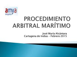 Reglamento arbitraje - v jornadas de seguro maritimo y portuario