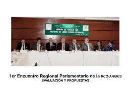 Evaluación del I Encuentro Regional Parlamentario .