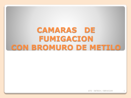 CAMARAS DE FUMIGACION CON BROMURO DE METILO