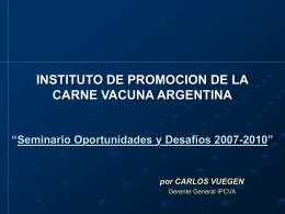 instituto de promocion de la carne vacuna argentina