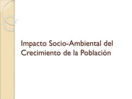 Impacto Socio-Ambiental del Crecimiento de la Población