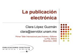 Las publicaciónes electrónicas