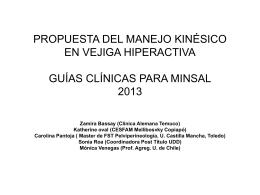 propuesta del manejo kinésico en vejiga hiperactiva guías
