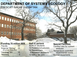 department of systems ecology