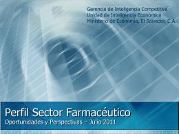 Perfil Sector Farmacéutico - Oportunidades y Perspectivas