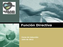 Función Directiva Ceci