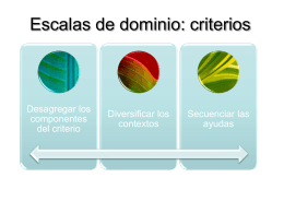 Escalas de dominio: criterios