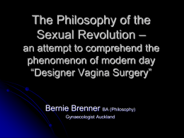 The Philosophy of the Sexual Revolution