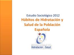 Hábitos de Hidratación y Salud de la Población Española