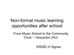 Non-formal music learning opportunities after school