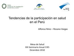 Tendencias de la participación en salud en el Perú