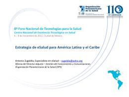 Estrategia y Plan de acción sobre eSalud