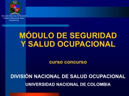 REQUERIMIENTOS MÓDULO DE SALUD OCUPACIONAL SARA