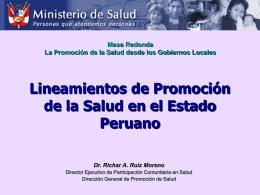 La Promoción de la Salud en Municipios Saludables