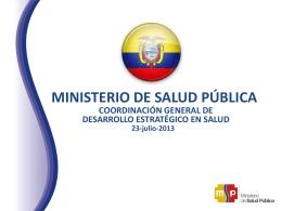 Ecuador - ORAS CONHU / Organismo Andino de Salud