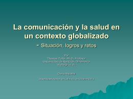 La comunicación y la salud en un contexto globalizado