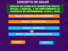 CONCEPTO DE SALUD - Facultad de Medicina