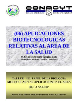 Biotecnología - Consejo Nacional de Ciencia y Tecnología