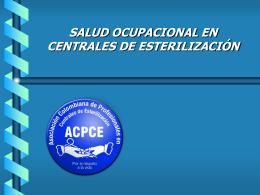 SALUD OCUPACIONAL EN CENTRALES DE ESTERILIZACIÓN