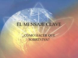 EL MENSAJE CLAVE