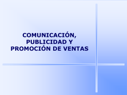 LOS INSTRUMENTOS DE COMUNICACIÓN EN MARKETING
