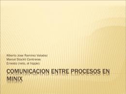Comunicacion entre procesos en Minix