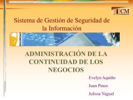 ADMINISTRACION DE LA CONTINUIDAD DE LOS NEGOCIOS